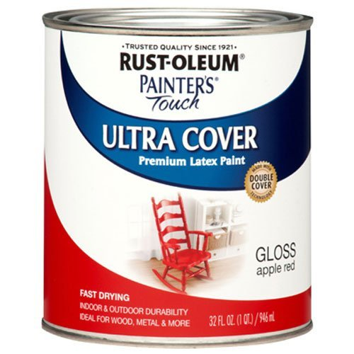Rust-Oleum 1966502 Painters Touch Latex, 1-Quart, Apple Red