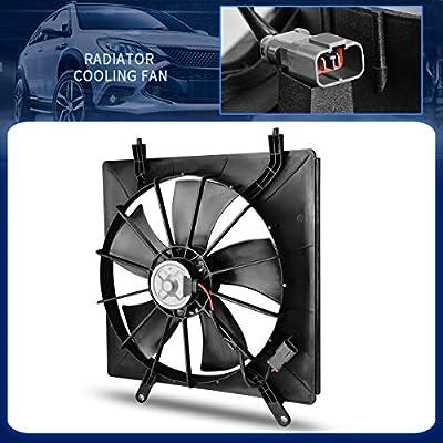 Radiator Cooling Fan Assembly Compatible with 2002-2006 Honda CR-V 2003-2008 Honda Element LX EX DX Base EX-L SE SC 2.4L Sport Utility 4-Door