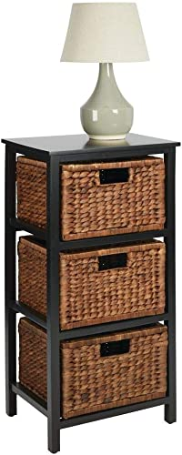 mDesign Side End Table Storage Nightstand