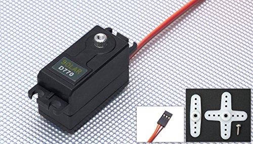 Low Profile Digital Servo (Solar Servo D770 High Voltage Low Profile .06sec@7.4v Digital Metal Gear 47g)