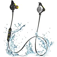 Magnetic Bluetooth Headphones, DYJ Sport IPX7 Waterproof Bluetooth Earphones Wireless In-Ear Headset Earbuds for Running Exercise Gym with Mic NFC for iphone, Android, Bluetooth Devices(Black)