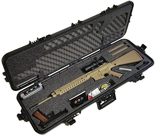Case Club Pre-Made AR10 Waterproof Rifle Case with Accessory Box and Silica Gel to Help Prevent Gun Rust