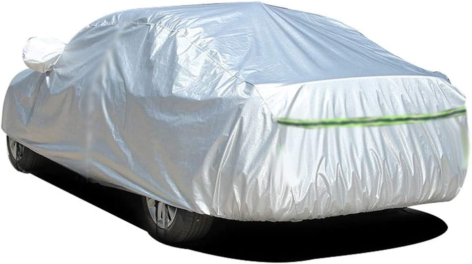 Color : Silver, Size : XJ8 PKMMQ Car Cover Compatible With Jaguar XJ XJ8 XJR All Weather Waterproof Outdoor Universal Breathable Sun Protected UV Protected
