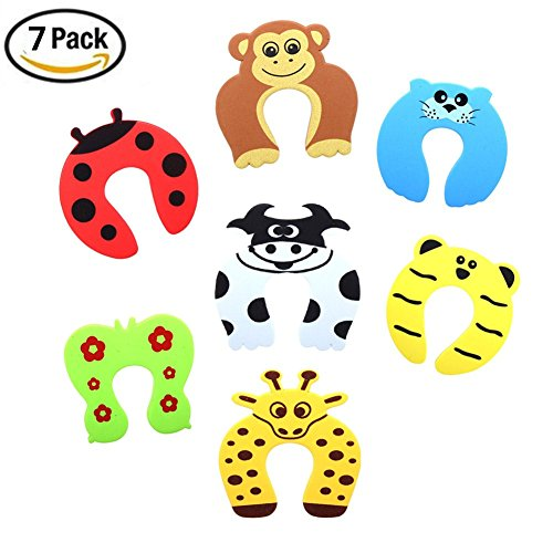 Yamde 7 Pcs Children Cartoon Stopper Cushion Baby Door Stop Safety Pinch Hand Stop Guard Set Avoid Hurt Babies' - Can Frames Fixed Glasses Be Broken