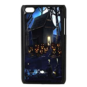 Customized Happy Halloween Hard Cover Case For iPod Touch 4th Generation