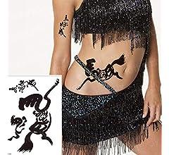 3pcs Tatuaje Brazo Manga Negro caligrafía China Tatuaje ...