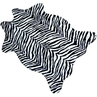 Catchnew Zebra Animal Print Rug 3.6X2.5 Feet Faux Carpet Home BedRoom