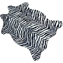 MustHome cute faux Zebra Print Rug 3.6x2.3 feet Animal Print Rug perfect throw rug for tile/lounge room/small living room/office/kids room/under tables/smaller area