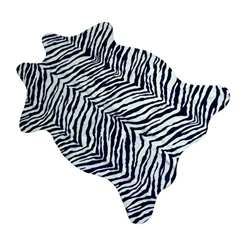 - MustMat Cute Faux Zebra Print Rug Animal Print Rug Perfect Throw Rug for Office/Kids Room/Under Tables/Smaller Area 3.6x2.3 feet
