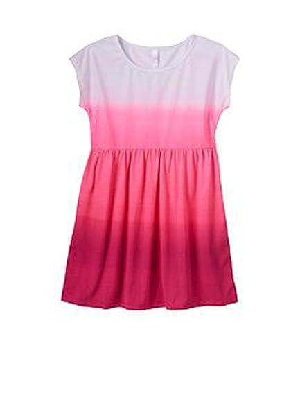 0a1f20a303 Amazon.com  SO Girls Ombre Swim Cover-Up Dress Pink White XXS(4 ...