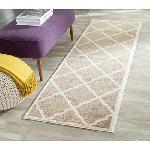 [Safavieh Amherst Collection AMT421S Wheat and Beige Indoor/ Outdoor Runner (2'3