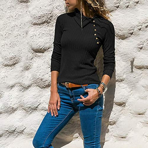 Chic Lache et Automne Blouse Femmes Tops Casual Sweatshirts Top Mode Vetements Manches Sexy Haut 1 Black t Longue T Chemise Simple OVERMAL Crop Imprim Shirt Dcontracte UCwqZ8pp