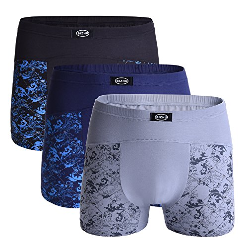 3 Pack Underwear Comfortable Soft Stretch Modal Fibre Design for Big and Tall (55