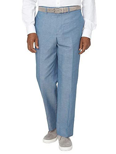 1950s Men's Clothing Paul Fredrick Mens Cotton Blend Flat Front Pant $135.00 AT vintagedancer.com