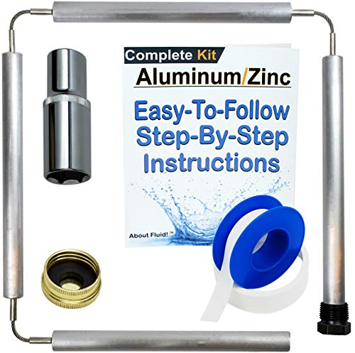 About Fluid | Aluminum Zinc Flexible Anode Rod KIT for Water Heaters | INCLUDES1-1/16