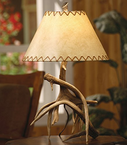 Black Forest Decor Trophy Antler Table Lamp - Lodge Light Fixtures