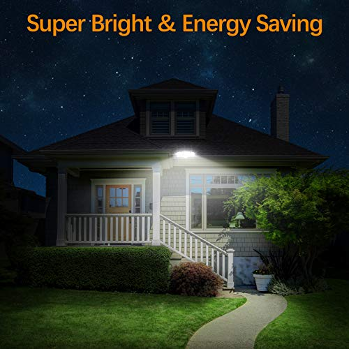 LEPOWER 3500LM Dusk to Dawn LED Security Lights Outdoor, 35W Super Bright Flood Light Outdoor with Photocell, 5500K, IP65 Waterproof 3 Head Exterior Light for Garage, Patio, Yard (No Motion Sensor)