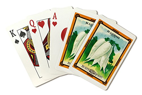 Radish (icicle) Seed Packet (Playing Card Deck - 52 Card Poker Size with Jokers)