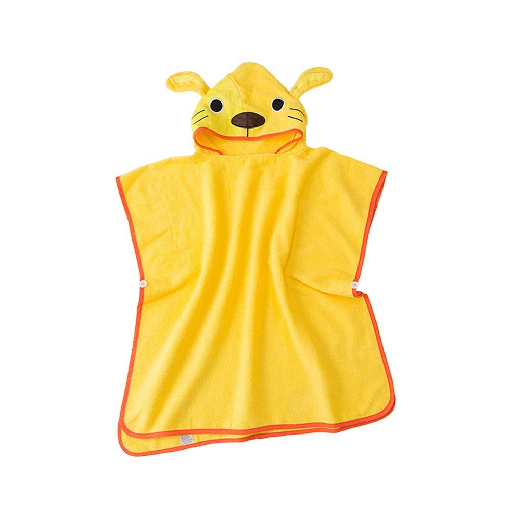 LIOOBO Mantello per Bambini Cartone Animato Simpatico Animale Creativo Cotone Accappatoio Primavera Calda Mantello 3-8 Anni (Cane Giallo)