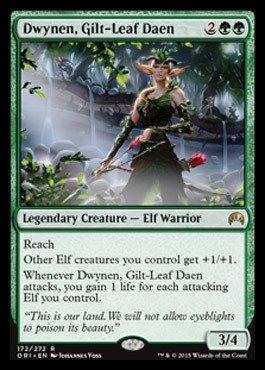 Gilt Foil (Magic: the Gathering - Dwynen, Gilt-Leaf Daen (172/272) - Origins - Foil)