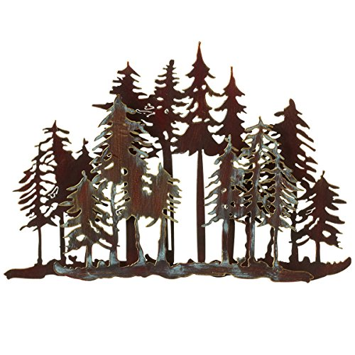 (Mountain Forest Metal Wall Art)