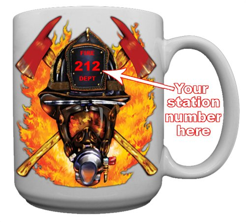 Firefighter Helmet Custom Coffee Mug CERAMIC