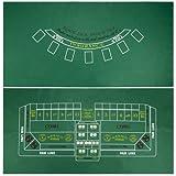 Brybelly Blackjack and Craps Table Felt, 72'' x 36''
