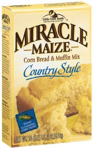 Miracle Maize Corn Bread & Muffin Mix Country Style (1-BOX) (NET WT 18 OZ) by Miracle Maize