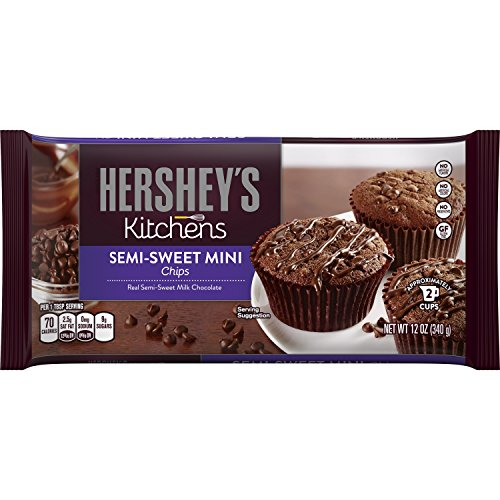 HERSHEY'S Kitchens Semi-Sweet Mini Chocolate Chips, 12 Ounce (Pack of 12) (Minis Semi Chocolate Sweet)