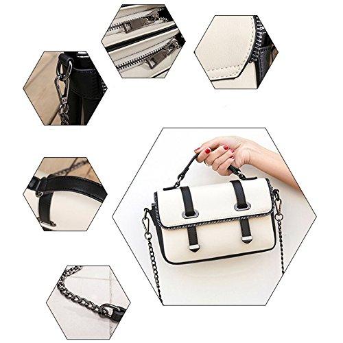 White Handbags Female Of Mobile Fashion Chain Leather Version Bag Package Color Bag PU Bag Casual Female Diagonal The Hit Vertical Shoulder Korean 1Y1rfFvqxn