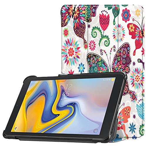 Cywulin Case for Samsung Galaxy Tab A 8.0 2018, Slim Folio Smart Trifold Leather Shell Stand Cover Lightweight for Galaxy Tab A 8 Inch 2018 Release Tablet SM-T387 Verizon Sprint T-Mobile AT&T (C)