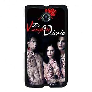 Awesome Vampire Diaries Geogle Nexus 6 Case,Vampire Diaries Funda Black Hard Plastic Case Cover For Geogle Nexus 6