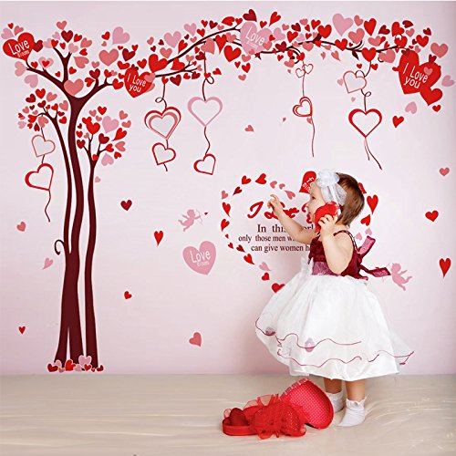 Love Tree Frame Wall Stickers Flowers Removable Mural Vinyl Decal TV Sofa  Living Room Backdrop Wallpaper Home Decoration by Clest F H  Amazon.co.uk   DIY   ... c65c23f1b