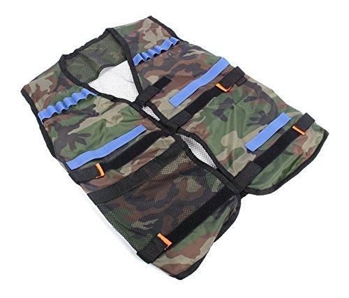 6MILES Adjustable N-strike Elite Tactical Nerf Vest for Foam Darts, Camouflage