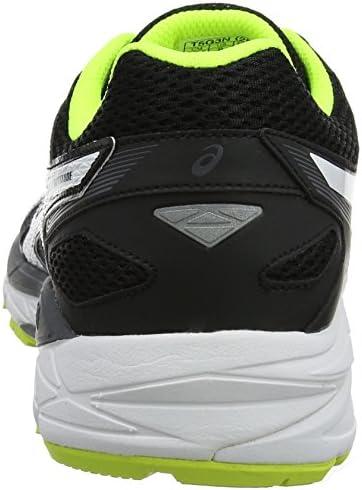 Asics Gel-Fortitude 7, Zapatillas de Running para Hombre, Negro (Black/White/Safety Yellow), 44.5 EU: Amazon.es: Zapatos y complementos