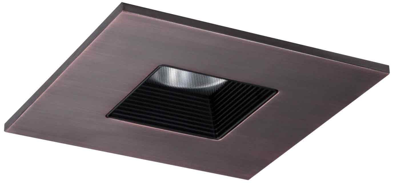 Halo Recessed TLS408TBZBB 4-Inch LED Trim Square with Solite Regressed Lens andBlack Baffle-Tuscan Bronze Ring