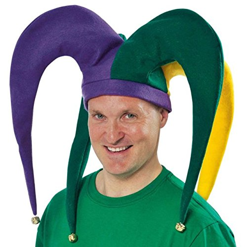 Giant Jester Hat with Bells Mardi Gras Costume Party Headwear, 19