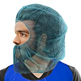 ProtecAll Polypropylene Hood balaclava Blue Disposable Hair & Beard Cover (100 per bag)