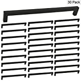 Black Square Kitchen Drawer Pulls Stainless Steel Cabinet Pulls - Homidy HDJ12 10inch(256mm) Hole Centers Bathroom Cupboard Door Handles Knobs 30Pack
