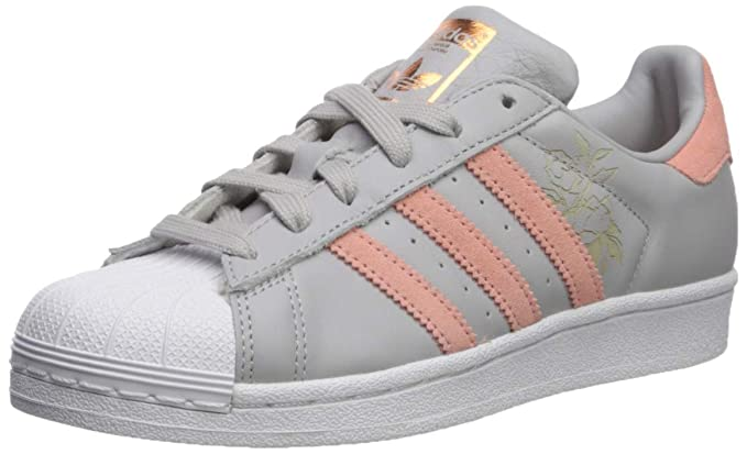 adidas Originals Women's Superstar Shoes Running, GreyTrace PinkWhite, 7 M US