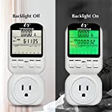 Nashone Digital Electric Power Meter, Smart Home Energy Consumption Monitor,Wall Plugged with Timer LCD Display Overload Alarm