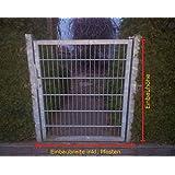 Cancello portone in lamiera di acciaio zincata Serina succitate porta porta Törchen 125 cm x 123 cm
