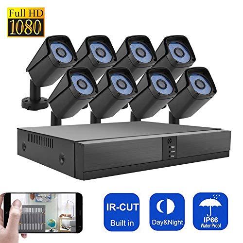 8 Pulgadas AHD DVR Kit Sistema de cámara de Seguridad Seguridad Vídeo de vigilancia al Aire Libre HD 100W píxeles de...