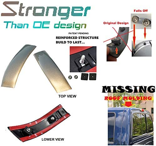 Upgraded Roof Molding For Ford 99-07 F-250 F-350 F-450 F-550 Super Duty Left Driver Side LH G2 Redfire Metallic YC3Z2551729PTM 1999 2000 2001 2002 2003 2004 2005 2006 2007