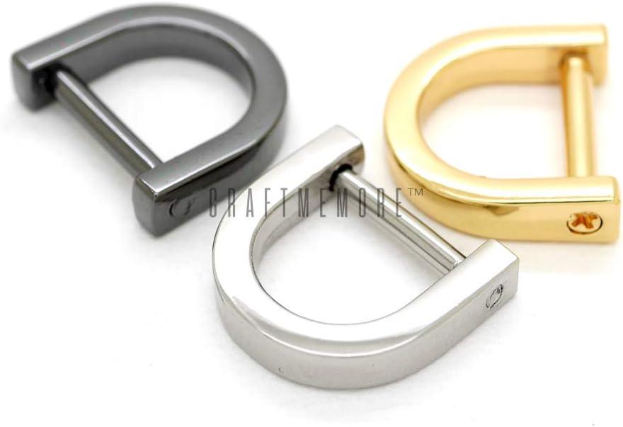 PandaHall 20PCS D-Ringe Sch/äkel Hufeisen U-Form D-Ring DIY Leder Bastelschl/üsselhalter Geldb/örse Zubeh/ör F/ür Riemen