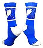 MadSportsStuff Hockey Player Crew Socks (Royal/White, Small)