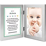 Gift for Uncle - Sweet Poem From Niece or Nephew - Attached 4x6 Frames - Add Photo