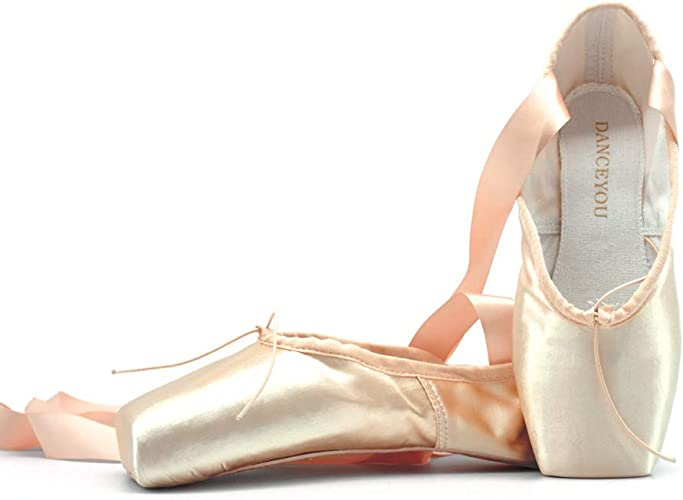 affordable price buying cheap super cheap Amazon.com | DANCEYOU Professional Ballet Pointe Shoes, Satin ...