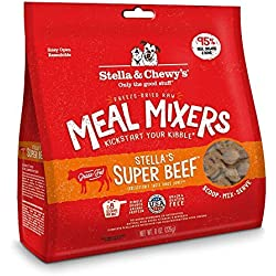 Stella & Chewy'S Freeze-Dried Raw Super Beef Meal Mixers Grain-Free Dog Food Topper, 8 Oz Bag