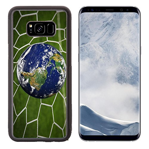 Liili Premium Samsung Galaxy S8 Plus Aluminum Backplate Bumper Snap Case Image Id  16215494 Earth Globe In Goal Net With Green Grass Field